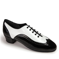 Style IDS Brogue Split Black Patent & White Patent | Blue Moon Ballroom Dance Supply