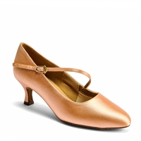 Style IDS C2003 Flesh Satin - Ladies Dance Shoes | Blue Moon Ballroom Dance Supply