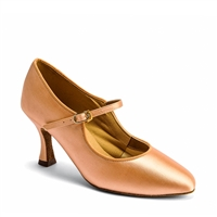Style IDS C2005 Flesh Satin - Ladies Dance Shoes | Blue Moon Ballroom Dance Supply