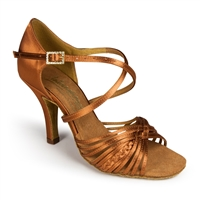 Style IDS Demani Tan Satin - Women's Dance Shoes | Blue Moon Ballroom Dance Supply