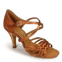 Style IDS Elena Tan Satin - Women's Dance Shoes | Blue Moon Ballroom Dance Supply