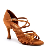 Style IDS Flavia Tan Satin - Women's Dance Shoes | Blue Moon Ballroom Dance Supply