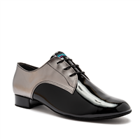 Style IDS Gibson Steel Pixel & Black Patent - Men's Dance Shoes | Blue Moon Ballroom Dance Supply