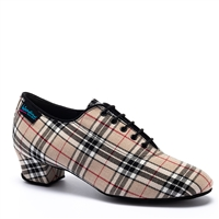 Style IDS Heather Beige Check Split Sole - Women's Dance Shoes | Blue Moon Ballroom Dance Supply