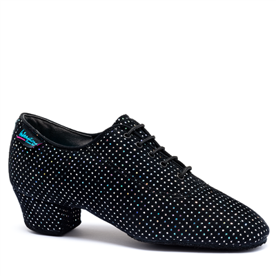 Style IDS Heather Black Silver Hologram Split Sole | Blue Moon Ballroom Dance Supply