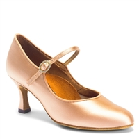 Style IDS ICS Classic Flesh Satin - Women's Dance Shoes | Blue Moon Ballroom Dance Supply