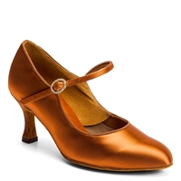 Style IDS ICS Classic Tan Satin - Women's Dance Shoes | Blue Moon Ballroom Dance Supply