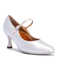 Style IDS ICS Classic White Satin - Women's Dance Shoes | Blue Moon Ballroom Dance Supply