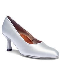 Style IDS ICS Round Toe White Satin - Women's Dance Shoes | Blue Moon Ballroom Dance Supply