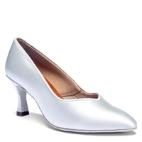 Style IDS ICS SuperStar White Satin - Women's Dance Shoes | Blue Moon Ballroom Dance Supply