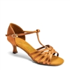 Style IDS L3005 Tan Satin Dansport Latin Dance Shoe | Blue Moon Ballroom Dance Supply