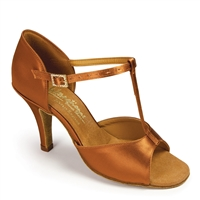 Style IDS LTB Tan Satin - Women's Dance Shoes | Blue Moon Ballroom Dance Supply