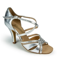 Style IDS Mia Crystal Silver - Women's Dance Shoes | Blue Moon Ballroom Dance Supply