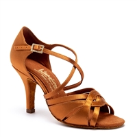 Style IDS Mia Tan Satin - Women's Dance Shoes | Blue Moon Ballroom Dance Supply