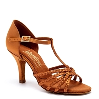 Style IDS Neeve Tan Satin - Women's Dance Shoes | Blue Moon Ballroom Dance Supply