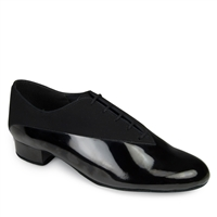 Style IDS Pino Black Nubuck & Black Patent - Women's Dance Shoes | Blue Moon Ballroom Dance Supply