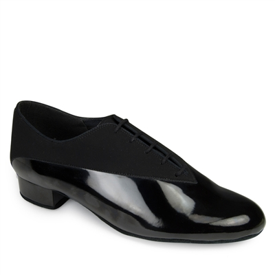 Style IDS Pino Black Nubuck & Black Patent - Men's Dance Shoes | Blue Moon Ballroom Dance Supply