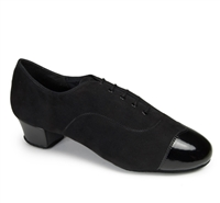 Style IDS Rumba Duo Black Suede & Black Patent - Women's Dance Shoes | Blue Moon Ballroom Dance Supply