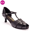 Style IDS S4011 Black Leather - Dansport Ladies Social Dance Shoes | Blue Moon Ballroom Dance Supply