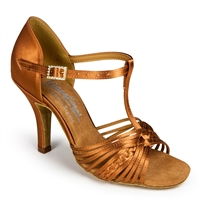 Style IDS Svetlana Tan Satin - Women's Dance Shoes | Blue Moon Ballroom Dance Supply