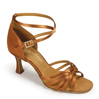 Style IDS Tanya Tan Satin - Women's Dance Shoes | Blue Moon Ballroom Dance Supply