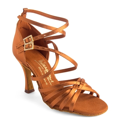 Style IDS Emily Tan Satin - Women's Dance Shoes | Blue Moon Ballroom Dance Supply