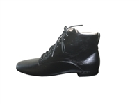 Style Romeo Black Leather Low Ankle Boot - Dance Footwear | Blue Moon Ballroom Dance Supply