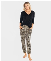 Ultra-Soft Animal Print Jogger Pant - Ladies Casualwear  | Blue Moon Ballroom Dance Supply