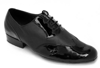 Style M100101 Black Patent & Black Leather - Women's Dance Shoes | Blue Moon Ballroom Dance Supply