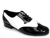 Style M100101 Black Patent & White Leather