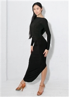 Style Alessandra Draped Dress Black