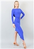 Style Alessandra Draped Dress Cobalt - Women's Dancewear | Blue Moon Ballroom Dance Supply