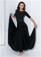 Style Alexa Ballroom Gown Black - Dancewear | Blue Moon Ballroom Dance Supply