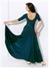 Style Alexa Ballroom Gown Forest Green - Dancewear | Blue Moon Ballroom Dance Supply