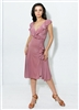 Style Bardot Ruffle Dress Dusty Rose - Women's Dancewear | Blue Moon Ballroom Dance Supply