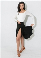 Style Bree Black Wrap Skirt - Women's Dancewear | Blue Moon Ballroom Dance Supply