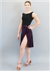 Style Miari Bree Plum Wrap Short Dance Skirt - Women's Dancewear | Blue Moon Ballroom Dance Supply