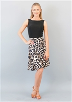 Style Bree Animal Print Wrap Skirt - Women's Dancewear | Blue Moon Ballroom Dance Supply