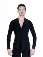 Style Brayden Black Latin Shirt - Men's Dancewear | Blue Moon Ballroom Dance Supply