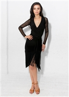 Style Carmen Fringe Dress Black | Blue Moon Ballroom Dance Supply