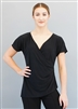 Style Celine Short Sleeve Black Top - Dancewear | Blue Moon Ballroom Dance Supply