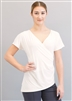Style Celine Short Sleeve Ivory Top - Dancewear | Blue Moon Ballroom Dance Supply