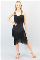 Style Miari Coco Black Fringe Dress - Women's Dancewear | Blue Moon Ballroom Dance Supply