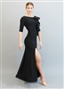 Style Federica Ruffle Ballroom Gown Black - Dancewear | Blue Moon Ballroom Dance Supply