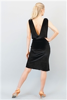 Style Gabriella Short Dress Black Velvet - Women's Dancewear | Blue Moon Ballroom Dance Supply