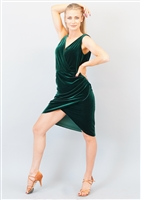 Style Gabriella Short Dress Green Velvet - Women's Dancewear | Blue Moon Ballroom Dance Supply