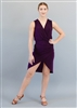 Style Gabriella Short Dress Plum - Women's Dancewear | Blue Moon Ballroom Dance Supply