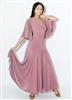 Style Harper Ballgown Dusty Rose - Dancewear | Blue Moon Ballroom Dance Supply