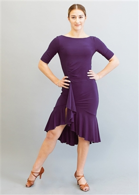 Style Miari Kaia Plum Short Latin Dress - Women's Dancewear | Blue Moon Ballroom Dance Supply