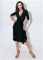 Style Klaudia Wrap Dress Black | Blue Moon Ballroom Dance Supply